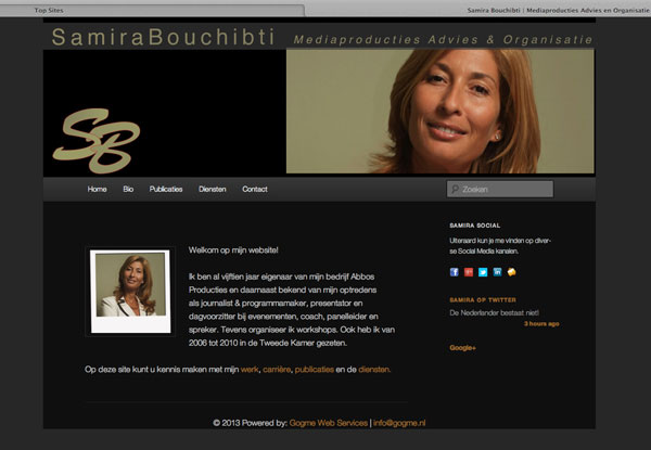 website Samira Bouchibti